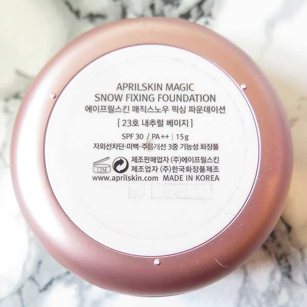 aprilskin fixing cushion review