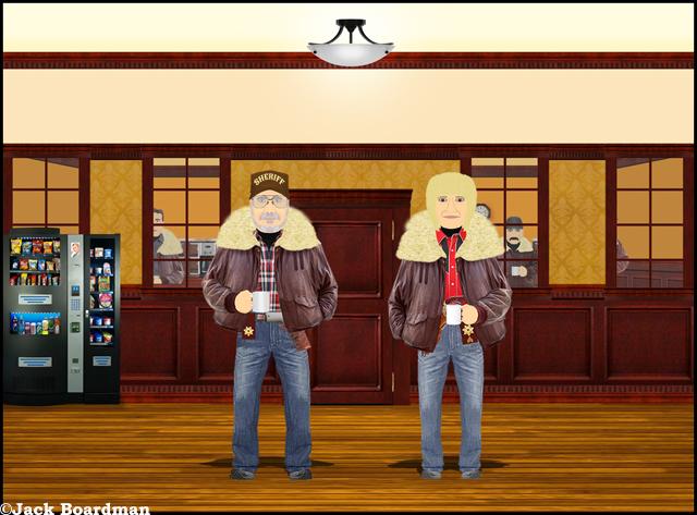 Shouse & Boomer met outside in the hall ©Jack Boardman