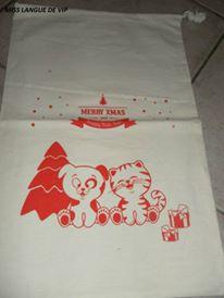 """sac en coton """"Merry X-MAS"""