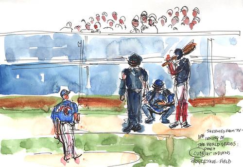 World Series watercolor 2
