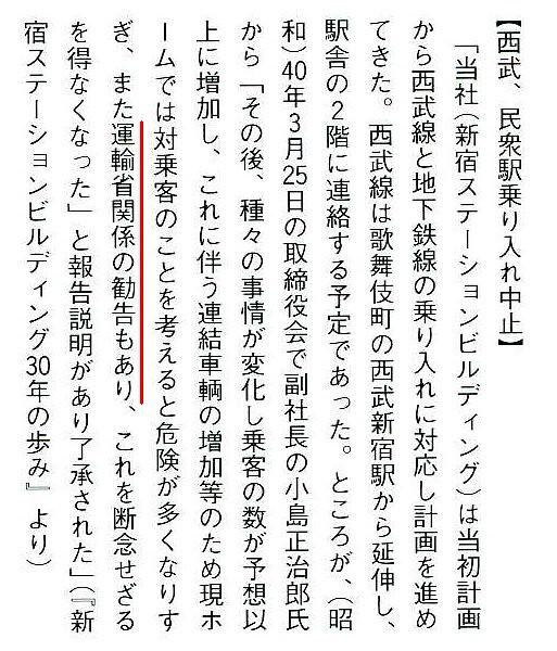 西武新宿線 国鉄新宿駅乗り入れ計画 (19)