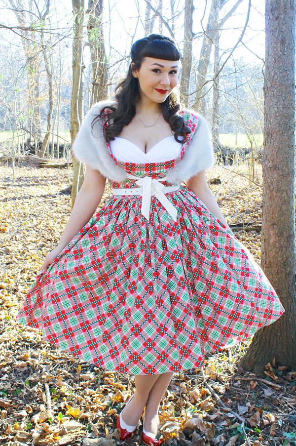 rockabilly christmas dress