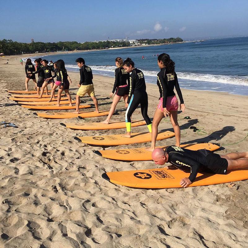 Surf Lesson at Odysseys Surf School