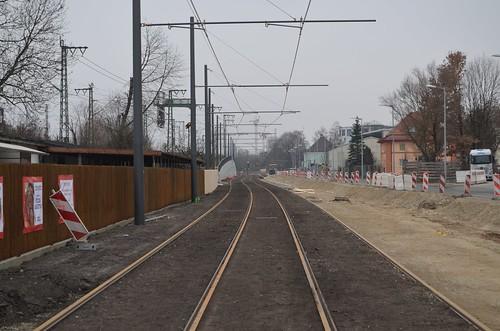 Die Neubaustrecke nach Berg am Laim Bf ist fertig! Lediglich die Fahrbahn sowie Restarbeiten an den Haltestellen und der Strecke müssen noch nach Inbetriebnahme erfolgen