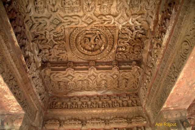 Beautiful carved Ceiling, Naglok, Osiyan Group of Temples