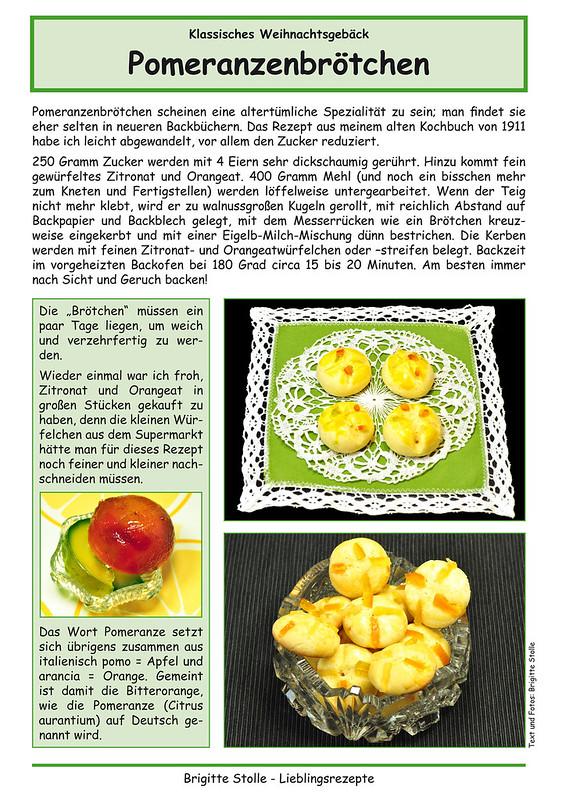 Weihnachtsbäckerei ... Rezept Pomeranzenbrötchen ... Zitronat, Orangeat ... Lieblingsrezepte Brigitte Stolle