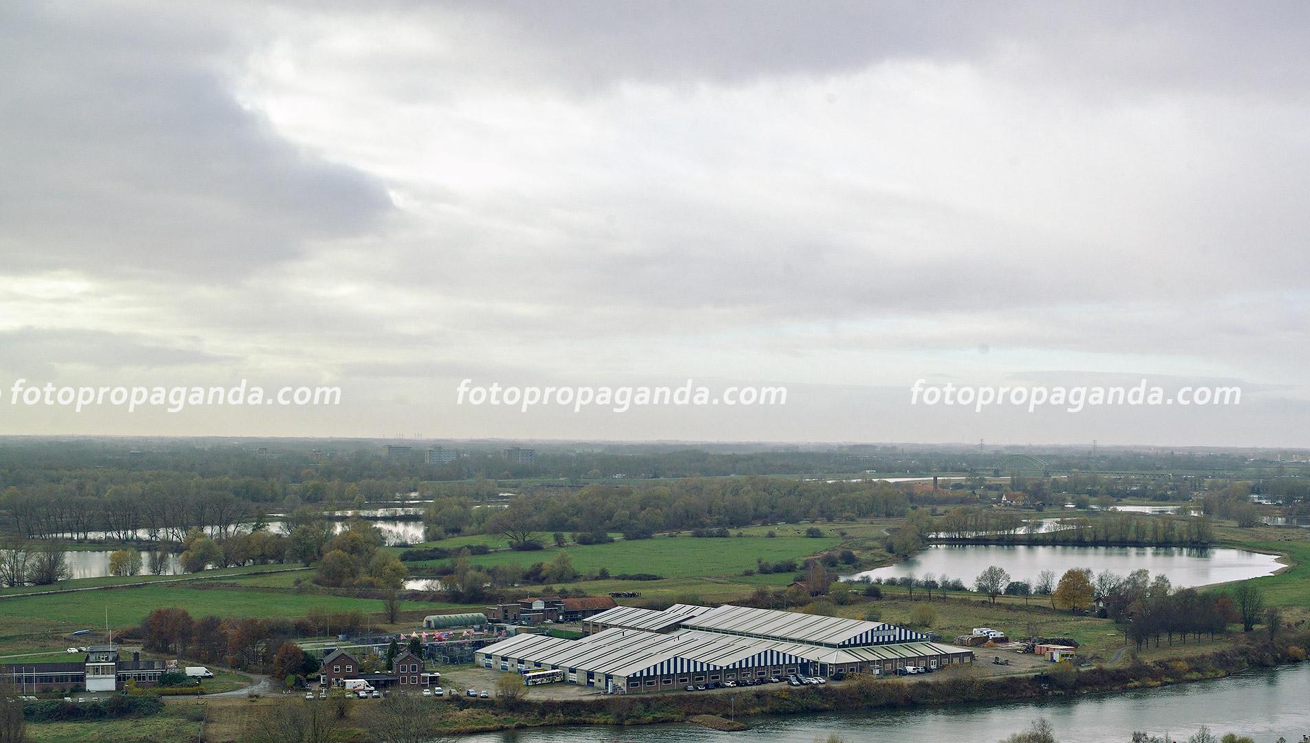 Een gedeelte van Meinerswijk (onderste deel) waar bij een