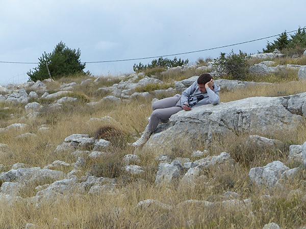 repos dans la montagne