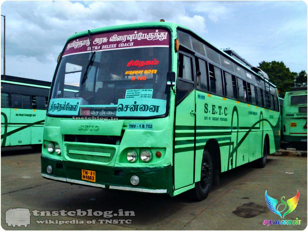 Tn 01n 9882 Tnv 1 B 752 Of Tirunelveli 1 Depot Route H 180