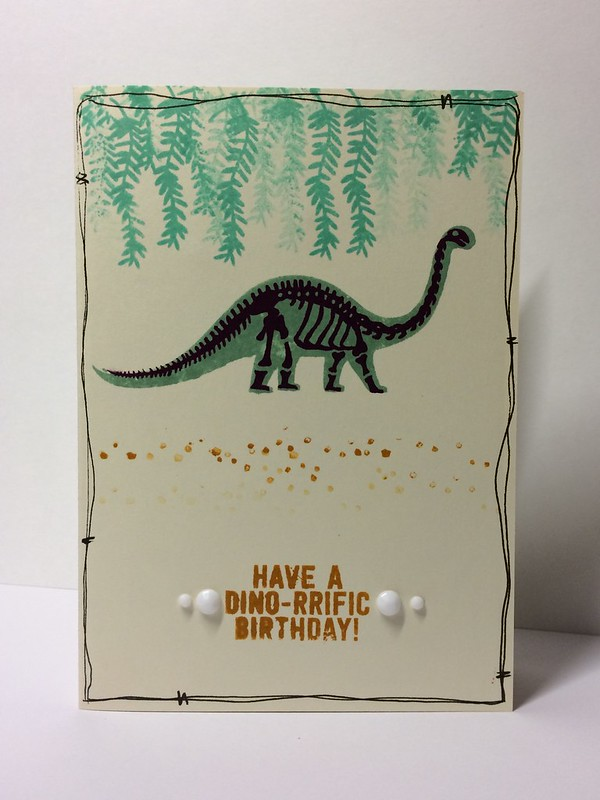 No Bones About It dinosaur card by StickerKitten