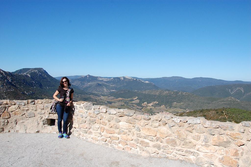 Castillo cátaro de Perypertuse visto desde el de Quéribus