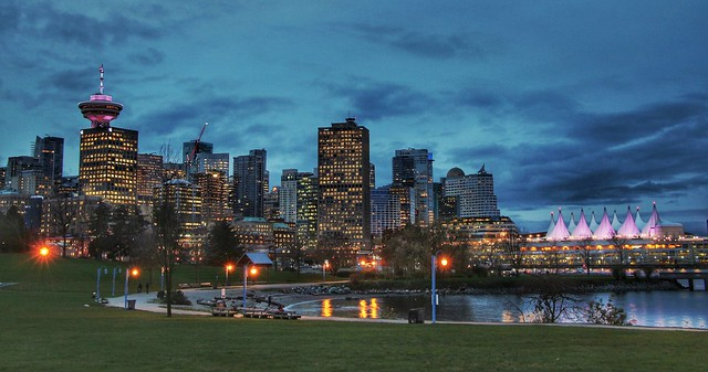 Beautiful Blue Hour - Vancouver BC