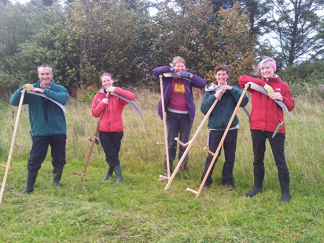Learn to scythe students in Scotland