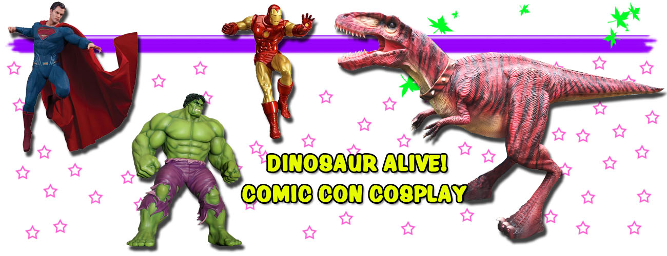 Dinosaur Alive at Comic Con