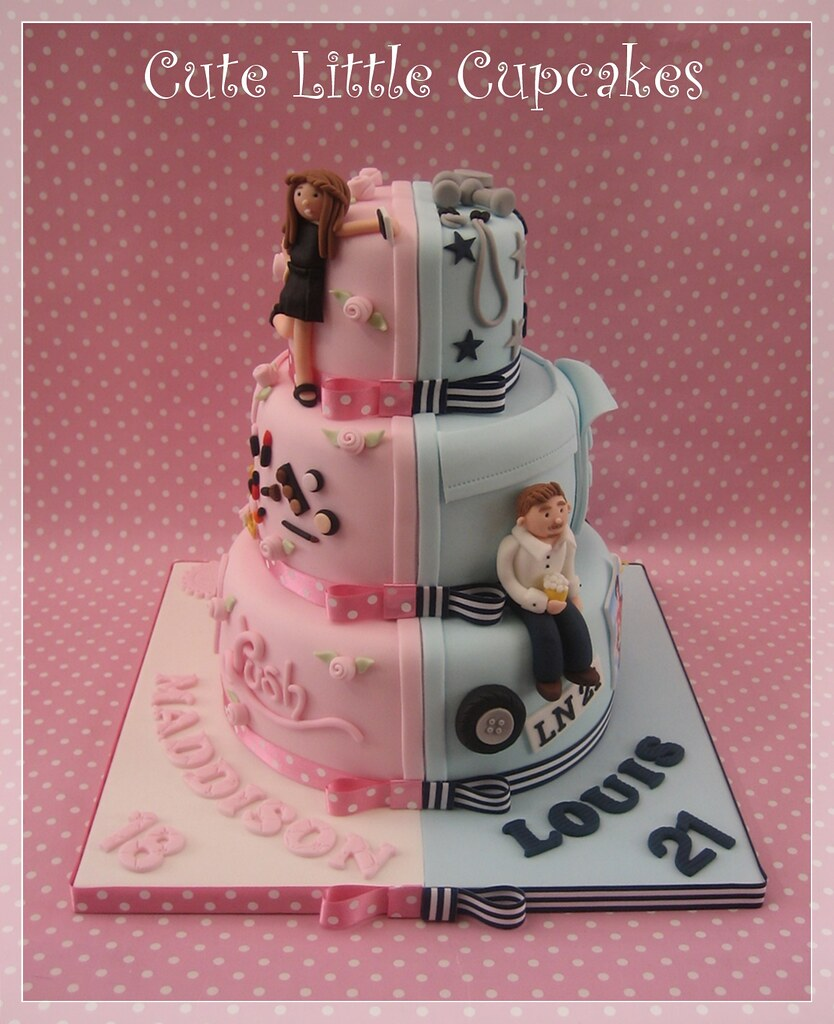 Combined Birthday Cake For Boy And Girl