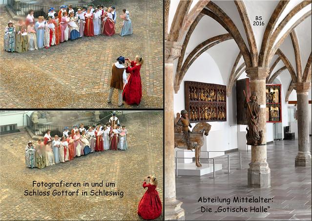 """Schloss Gottorf Schleswig ... Landesmuseum ... Abteilung """"Mittelalter"""" ... Gotische Halle ... sakrale Kunst ... Drehort """"Unter anderen Umständen"""" mit Nathalie Wörner alias Jana Winter ... Fotos und Collagen: Brigitte Stolle 2016"""