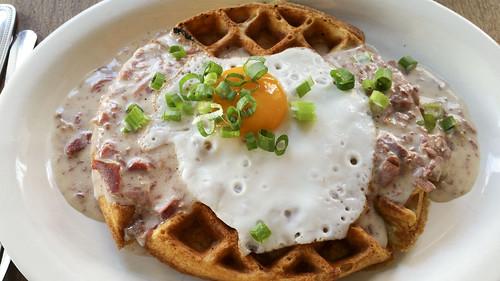 savory scallion waffle at The Dutch