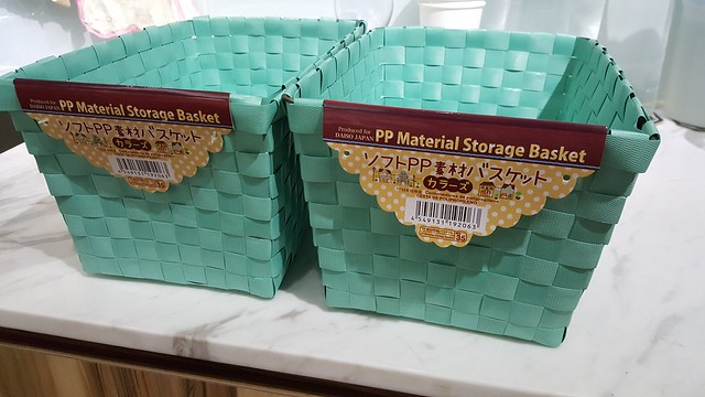 Daiso PP Material Storage Basket - comes in varied sizes!