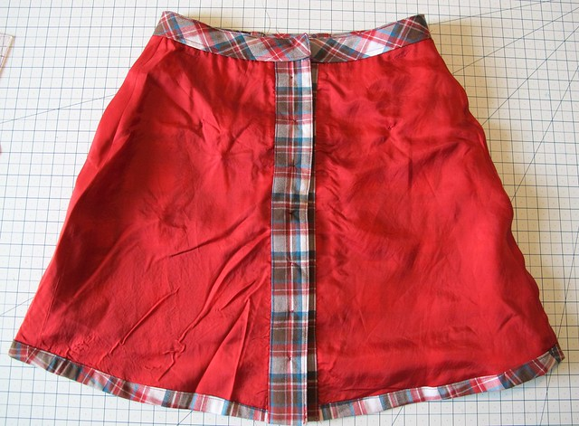 Plaid Rosari Skirt - flat