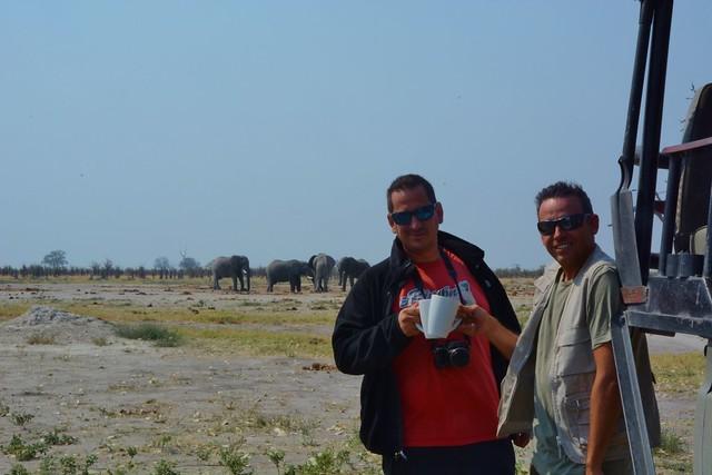 Sele e Isaac en Botswana