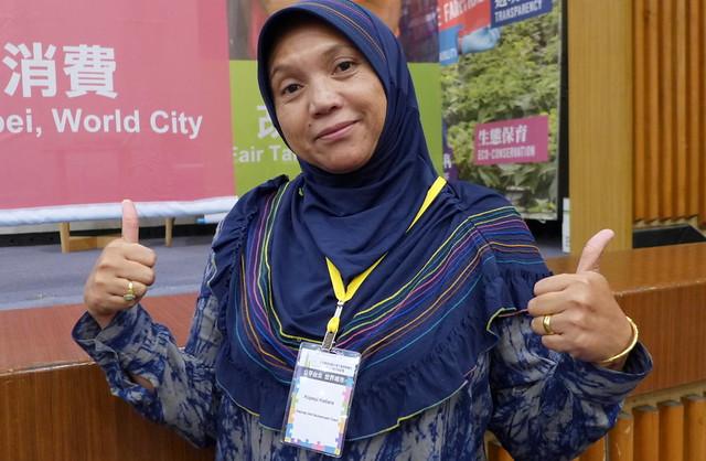 印尼卡提拉(KOPEPI KETIARA)咖啡農合作社創辦人拉瑪Rahmah。攝影:陳文姿。