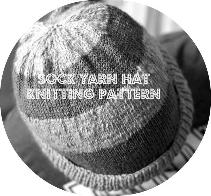 free sock yarn hat knitting pattern