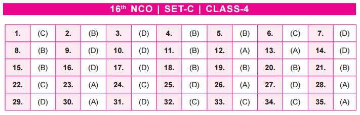 NCO Answer Keys class 4