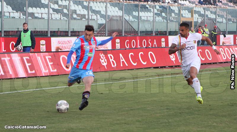 Andrea Di Grazia in azione nel match di andata