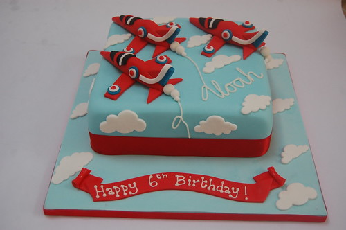 Vroooooom! The ultimate in winning formations! The Red Arrows Cake - from £70.