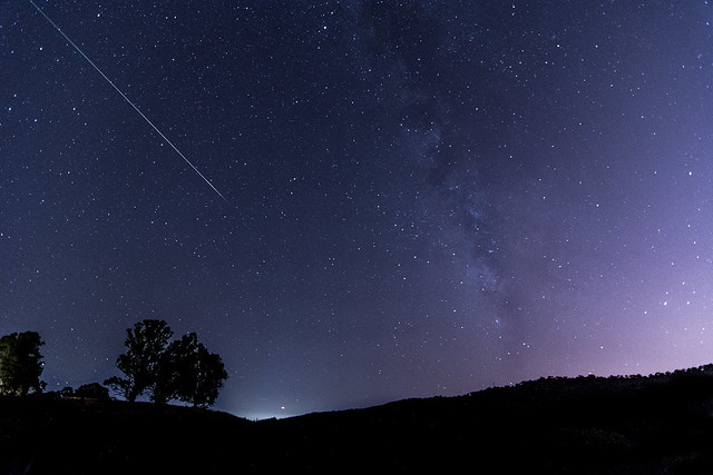 Perseid Meteor Shower over Silicon Valley