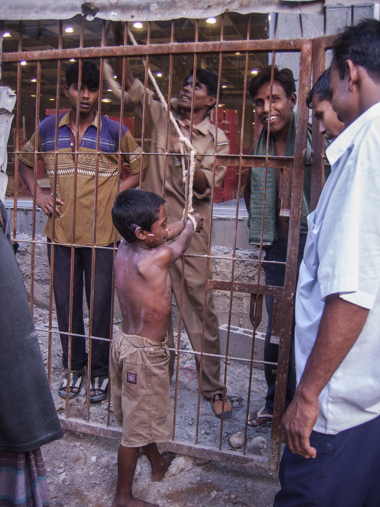 Boy being tied up for alleged minor offence 3271 | Kid being ...