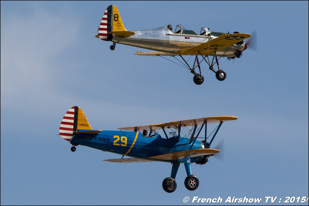 Stearman F-AZCK & Ryan PT-22 , Feria de l'air nimes garons 2016, Meeting Aerien 2015