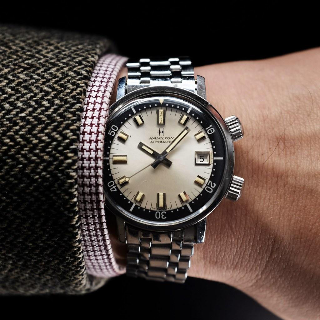 Vintage 60 39 s hamilton aqua date 600 super compressor dive for Hamilton dive watch