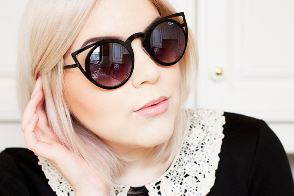 472a50d837e Quay Australia Invader Sunglasses in Black. The second pair I purchased  were these black Invader sunglasses. They have a similar cat eye style to  the Kitti ...