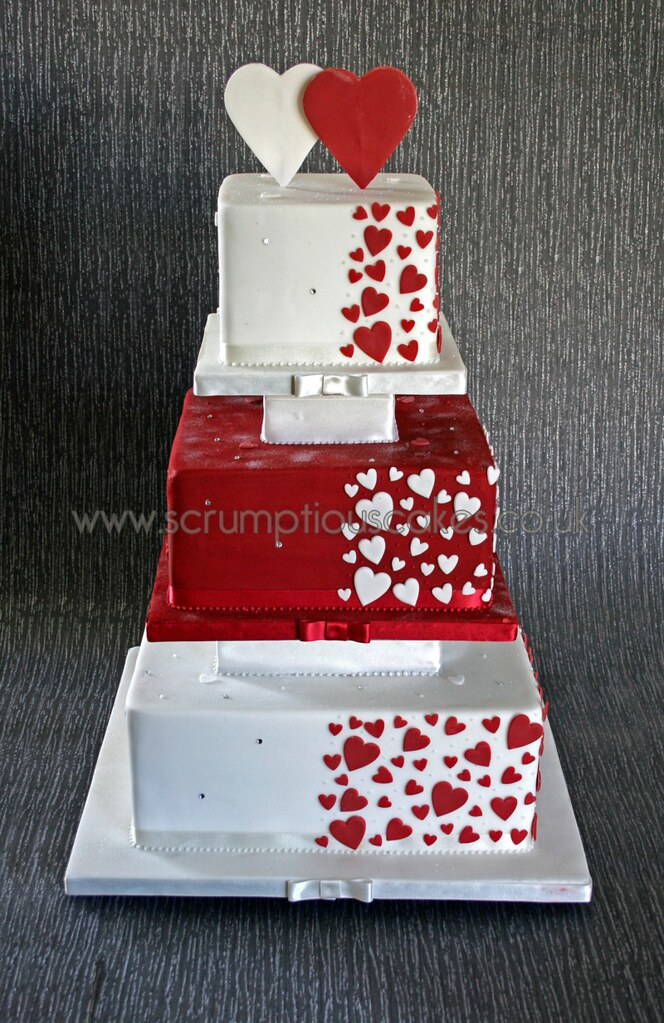wedding cake with hearts wedding cake 1079 amp white hearts paula 26905