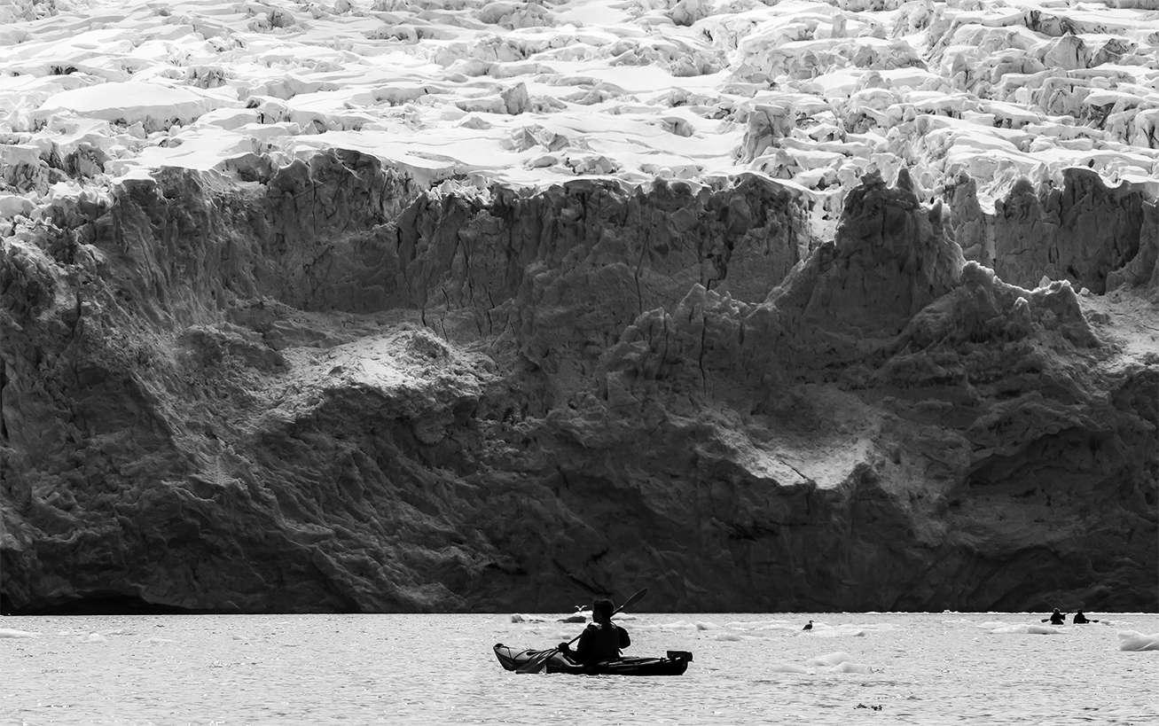 Sea kayaking Blackstone Bay, from Whittier