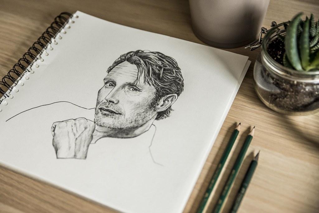 Mads Mikkelsen drawing