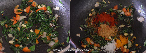 Vendhaya keerai kara kuzhambu recipe