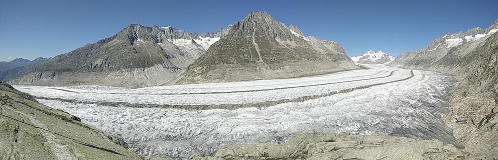 Panorámica desde Eggishorn sobre el glaciar Aletsch
