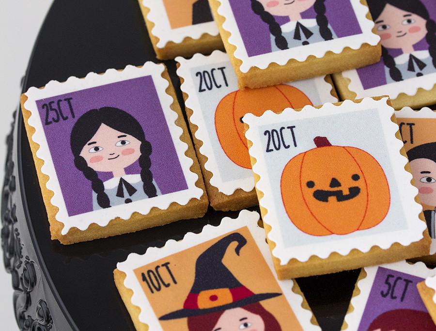 galletas halloween papel azúcar