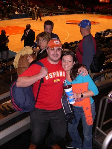 Partido de baloncesto en el Madison Square Garden