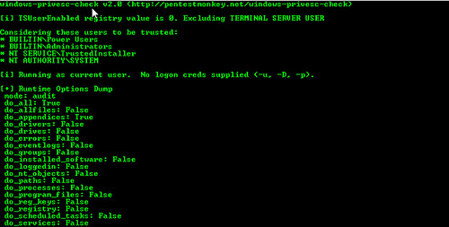 windows-privesc-check - Windows Privilege Escalation Scanner