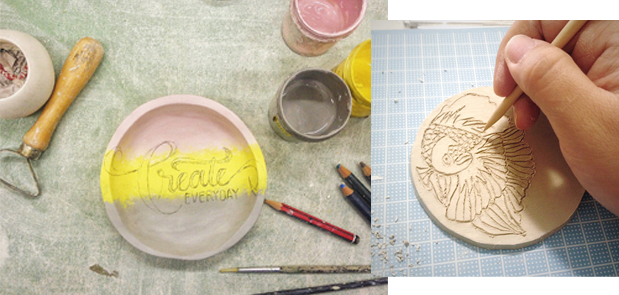 Calligraphy and Ceramics Experiments