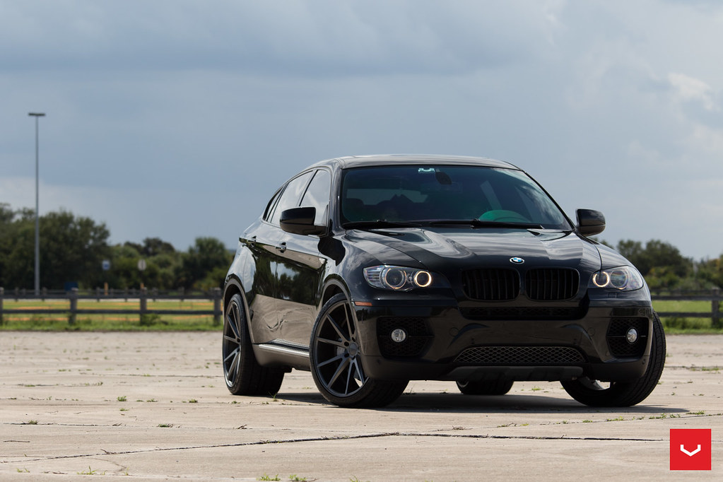 "Bmw Rims 22 Inch >> BMW X6 - 22"" Vossen VFS1 Matte Graphite Wheels -0021 