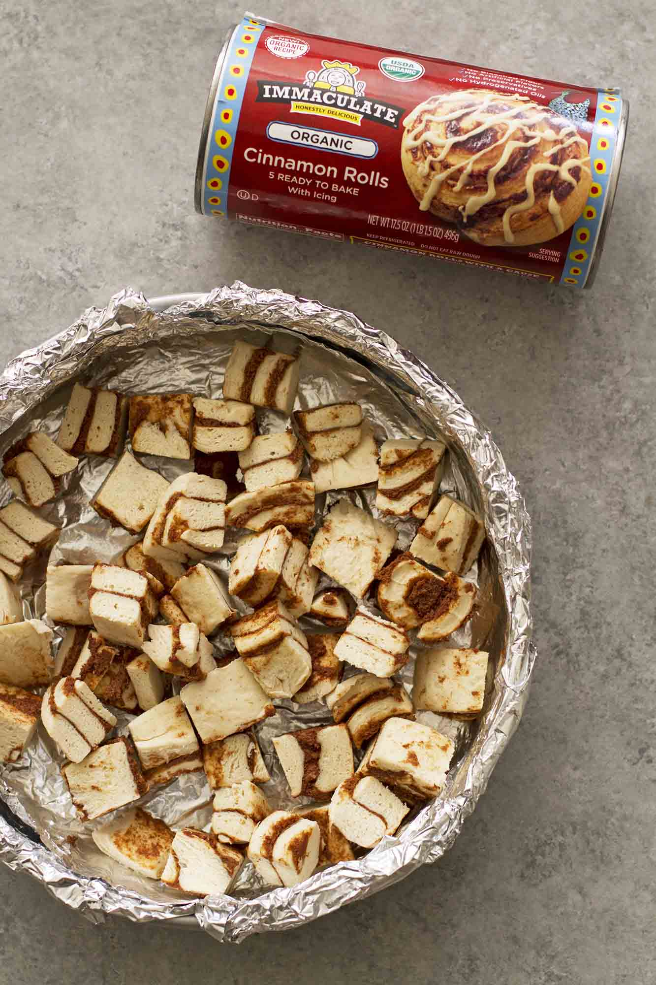 Caramel Apple Cinnamon Roll Breakfast Bread Pudding | girlversusdough ...