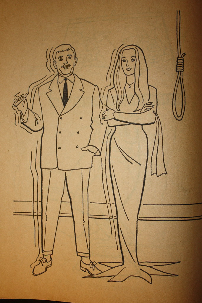 addams family coloring book interior