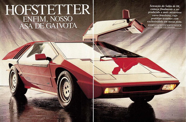 Pseudo Italian look-a-likes seemed to be most timeless of the Brazilian built cars. Pictured above is a Hofstetter Turbo.