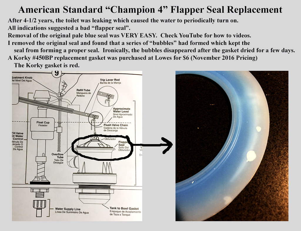 Flapper Gasket Replacement American Standard Champion 4