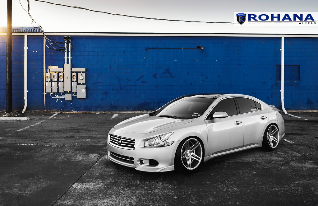 Nissan Maxima Rc8 Machine Silver 3 Rohana Wheels