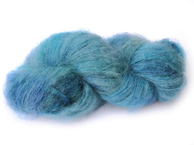 Big Fluff brushed kid mohair hand-dyed yarn 'Lake Haze'